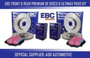 Ebc Front + Rear Discs And Pads For Lexus Is220d 2.2 Td 2005-11