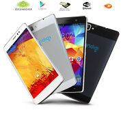 Dual-core 5.5 Gsm Unlocked Android 4.4 Smart Cellphone 3g Navigation Black