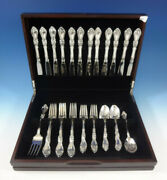 Royal Rose By Wallace Sterling Silver Flatware Set For 12 Service 50 Pieces