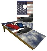 Usa Airforce Cornhole Beanbag Toss Game W Bags Game Board United States Set