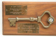 Tony Curtis Key Of City Of San Diego Presented To Him By The Mayer In 1984