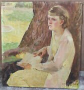 Magnificent Oil On Canvas Painting By William Jr Harrison Listed Artist