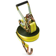 2 Heavy Duty Ratchet Tie Down Strap 30and039 J Wh Wire Hook F Flatbed Truck Trailer