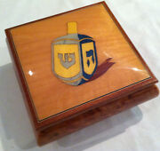 Reuge Music Dreidel Musical Jewelry Box With 18 Nt-rock Of Ages Or To Life