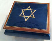 Reuge Music Star Of David Musical Jewelry Box-18 Nt Reuge Movement