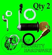 Qty 2 National Compx Key Cam Lock Cabinet 1 7/16 Long Keyed Alike Antique Brass
