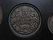 1998 Canadian Silver Proof Quarter 0.25 - 90th Anniversary 1908-1998 Antique