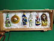 Kurt Adler Polonaise Wizard Of Oz Ornaments Set Of 6 Wcrate Never Been Displayed
