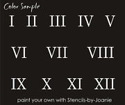 Roman Numeral Stencil 1 Number Clock Cottage French Address Home Diy Art Signs