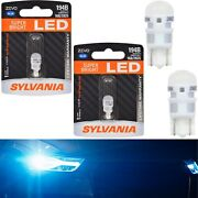 Sylvania Zevo Led Light 194 Blue 10000k Two Bulbs License Plate Replace Oe Fit