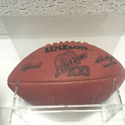 Game Used Super Bowl Xxi Football Also Every Issued Press Credential