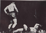 Rocky Graziano Knocks Down Freddie Red Cochrane Dispatch Photo News Service