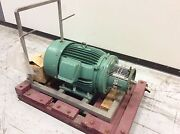 Tri-clover Tri-flo Pump 40hp Motor And Adapter For C328md32t-s Pump No Head