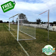 8' X 24' World Cup Soccer Goal Outdoor | Professional Soccer Goal