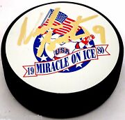 Neal Broten Signed 1980 Olympic Hockey Signed Puck Miracle On Ice 000005