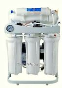 Ro Reverse Osmosis Water Filter 5 Stage System 200 Gpd-booster Pump And Psi Gauge