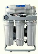Ro Reverse Osmosis Water Filter 5 Stage System 300 Gpd-booster Pump And Psi Gauge