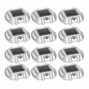 New 12 Pack Solar Led Pathway Driveway Lights Dock Path Step Road Safety Markers