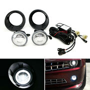 20w Cree Led Halo Ring Drl/fog Lights W/ Bezels Wiring For 2010-13 Chevy Camaro