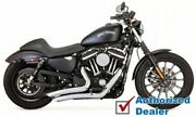 Vance And Hines Chrome Big Radius Exhaust Pipes System 14-2020 Harley Sportster Xl
