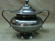 Antique 19th Century H. Yale And Co. Wallingford Pewter Waste Bowl W/lid