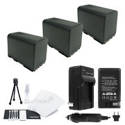3x Bp-975 Battery + Charger For Canon Gl1 Gl2 Xm1 Xm2 Xl1 Xl-1s Xl2