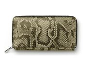 Faber-castelll [germany] Zipped Ladies Purse Wallet Python Printed