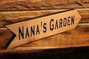 Personalized Wood Arrow Sign Custom Routed Garden Cedar Carved Wedding Signs