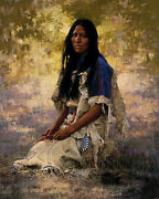 Howard Terpning Woman Of The Sioux S/nw/coa Ebay Low-offer Free S/h