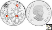 2011 And039hyacinth Small Crystal Snowflakeand039 Proof 20 Silver Coin .9999 Fine Ooak