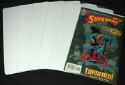 100 Comic Book Bin Index Divider Cards - 7x11 - White Heavy Duty 40mil Thick