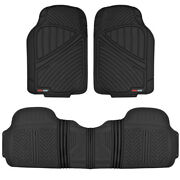 All Weather Odorless Bpa-free Rubber Floor Mats For Car Suvs Van Truck - Black