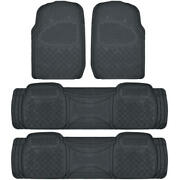 Car Floor Mat For 3 Row Suv Black Extra Heavy Duty Protection Trimmable Fit
