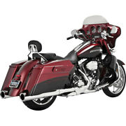 Vance And Hines 16832 Chrome Power Duals Head Pipes For Harley '09-'16 Touring