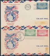 C20 C21-22 China Clipper On Fdc Cachet By Top Notch 2 Diff. Bs9125