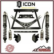 Icon 0-3 Rear Stage 2 Coilover Conversion System For 2007-2018 Jeep Wrangler Jk