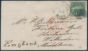 117 F-vf On 1869 Cover To Middlesex England By St. Paul Minn Cds Bs9376