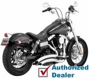 Chrome Vance And Hines Big Radius Full Exhaust Pipes System 2006-2017 Harley Dyna