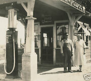 Antique Ice Cold Coca Cola Sold Here Sign Falstaff Beer Gas Pump Oil Co Photo