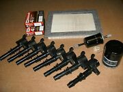 Complete Tune Up Kit 8+coils Refdg511 8+plugs Sp515/sp546 Oil,air,gas Filter