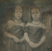 Victorian Quarter Daguerreotype Hair Jewelry Ringlet Artistic Mother Pearl Photo