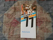 1977 Miami Dolphins Media Guide Yearbook Press Book Program Nfl Football Mia Ad