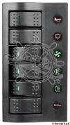 Osculati Pcp Compact 6 Switch Electrical Panel With Circuit Breaker And Led