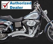 Vance And Hines Chrome Big Radius Exhaust Drag Header Pipes Harley Dyna 1991-2005