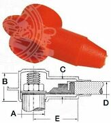 Osculati Soft Pvc Red Insulating Cap For Up To 16mm Cables External