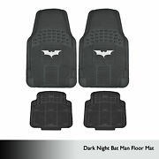 Batman 4pc Rubber Floor Mats Front And Rear All Weather Heavy Duty