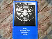 1991 Indiana State Football Media Guide Sean Payton New Orleans Saints N.o. Ad