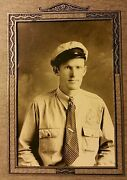 Antique Aaa Gas Service Station Attendant Barry Il Rare Auto Patch Photo