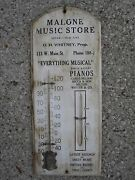 Antique Malone Music Store Sign Records Sheet Music Piano Est 1893 St Regis Ny