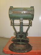 Antique General Store Iron Scale Interior Decorate Green Paint Rust Numbers Il